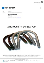 Zincrolyte vs Duplex test report